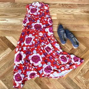 Anthropologie Maeve floral midi dress